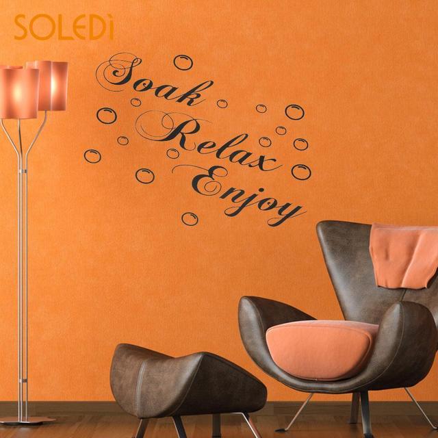 US $1.4 15% OFF|Tränken Relax Genießen Blasen Vinyl Wand Aufkleber  Aufkleber Badezimmer Home Kunst DIY Decor Wand Dekoration in Tränken Relax  ...