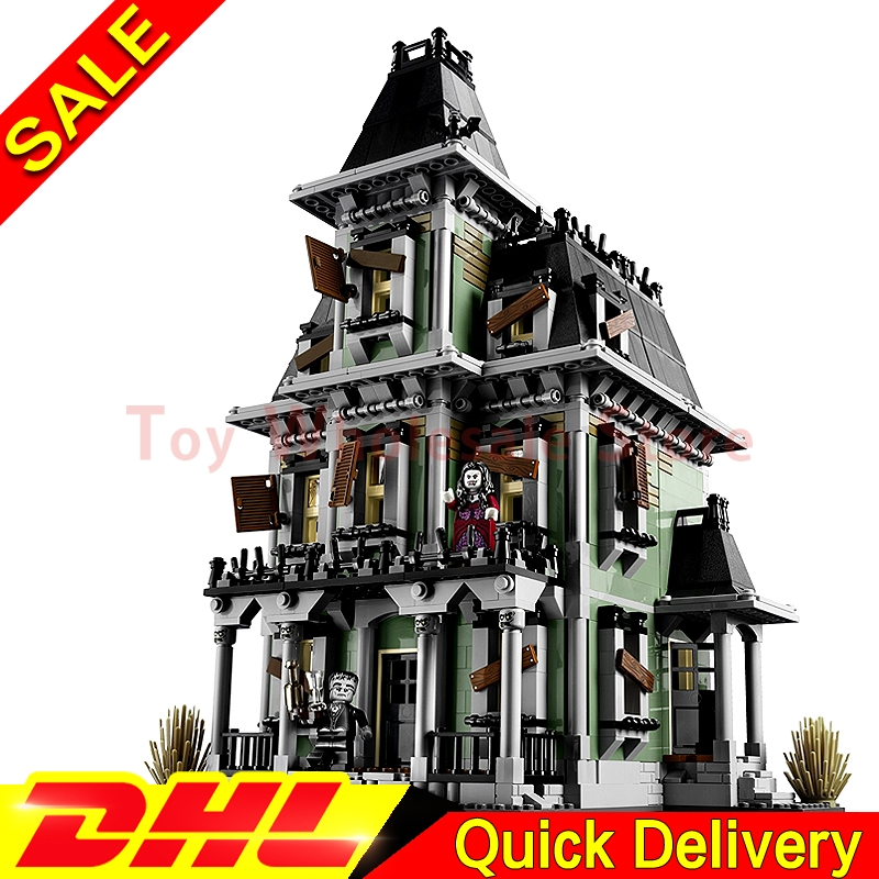 LEPIN 16007 2141Pcs Monster fighter The haunted house Model set Building Kits Model lepins Toys Clone 10228 lepin 16007 2141pcs monster fighter the haunted house model set building kits model compatible with 10228 educational toys gifts
