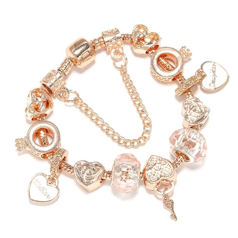 Rose Gold Mother Daughter Bracelet