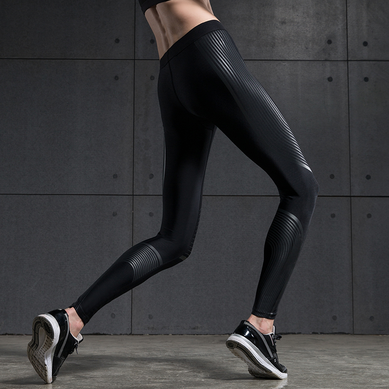 BINAND Dames Lage Taille Krachtcompressie Running Tight Speed ​​Broek High-stretch Reflecterende Sportswear Yoga Jogging-legging