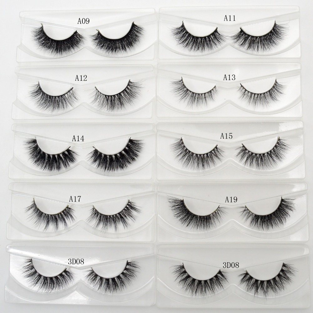 Lash Mink Eyelashes 3D Mink Hair Lashes Wholesale Real Mink Fur Handmade Crossing Lashes Thick Lash Makeup 23 Styles 1 Pair