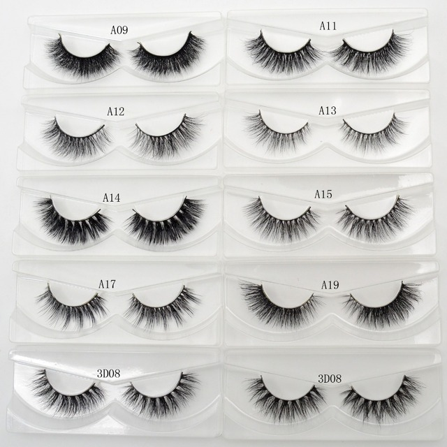 0c3c969b358 Lash Mink Eyelashes 3D Mink Hair Lashes Wholesale Real Mink Fur Handmade  Crossing Lashes Thick Lash Makeup 23 Styles 1 Pair