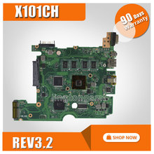 hot selling! For ASUS X101CH laptop motherboard X101CH mainboard REV3.2 on board memory 100% test