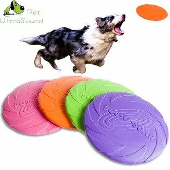 1 unidad de juguetes interactivos para masticar perros mordedura de goma suave cachorro de juguete para perros productos para entrenamiento de mascotas discos voladores para perros