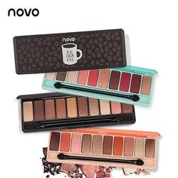 NOVO Mode lidschatten-palette 10 Farben Matte Lidschatten nackt palette Glitter lidschatten Make-Up Nackt Make-Up set Korea Kosmetik