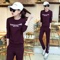 Women Tracksuit Casual Sweatshirt + Pants Lady Clothing Suit Sportwear Letter Printed Winter Lady Sets Plus Size XXXL#MX876