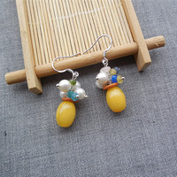 Original Fashion Vintage Pearl Shell Earrings Female Personality Like Beeswax Hypoallergenic Jewelry And Accessories