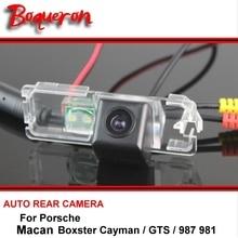 Для Porsche Boxster Cayman GTS 987 981 Macan HD CCD заднего вида автомобиля Парковка водостойкий обратный резервный камера ночного видения