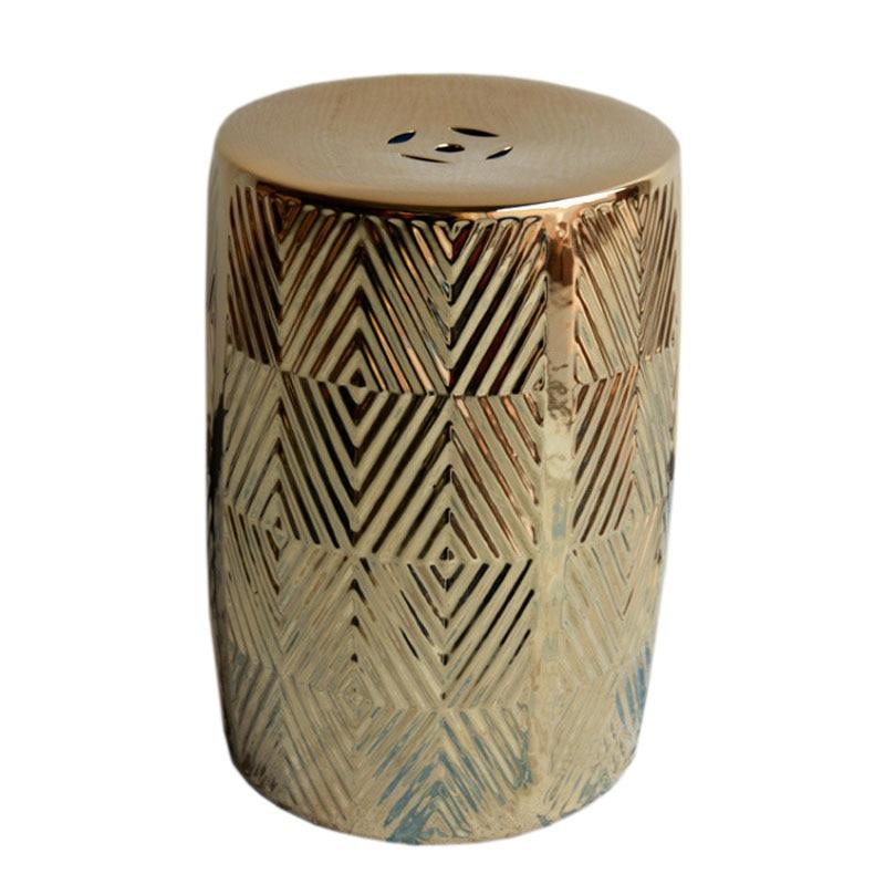 Ceramic Stool Modern Design for Living Room Decoration Furniture Leisure Chair Art Drum Stool
