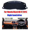 Car dashboard covers For Honda Vezel XR-V 2015 Right hand drives dashboard mat pad dashmat car Instrument platform accessories