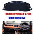 Painel do carro capas para honda vezel xr-v 2015 unidades de mão direita painel pad mat dashmat plataforma instrumento carro acessórios