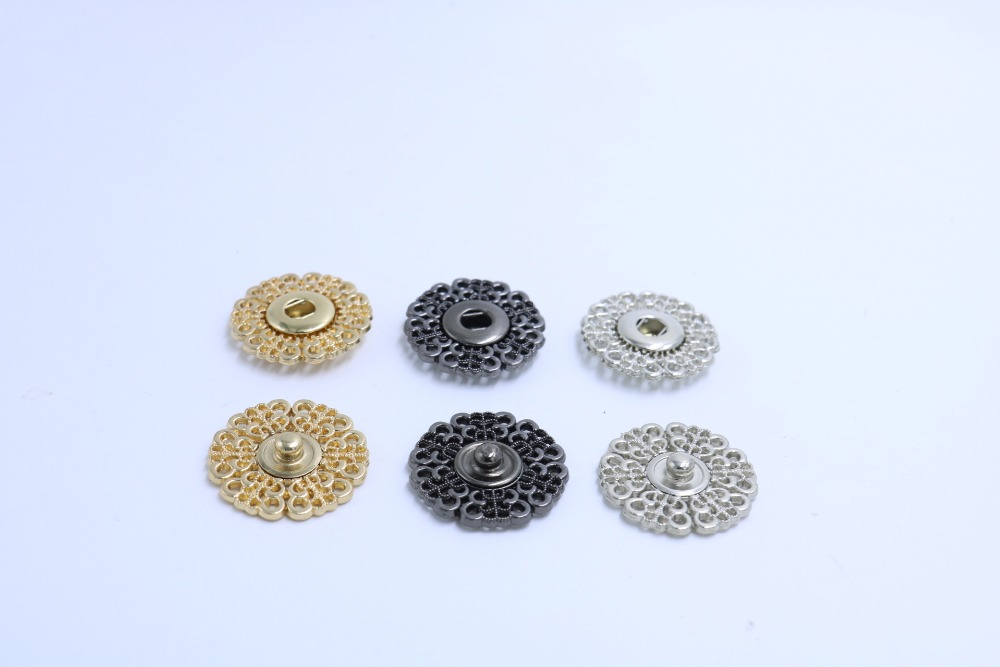 10Pcs ABS Snap Fastener Round Button Press Studs Sew On Rivet Buttons For Shirt