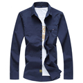 CE16- Autumn Mens Shirts M-6XL Casual Linen Shirts Men White Hawaiian Shirt Men Shirt Dress Camisas Para Hombre