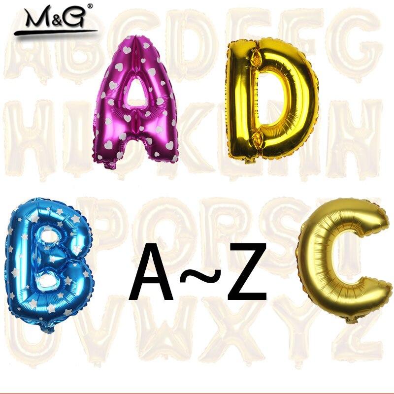 1 шт., воздушные шары из алюминиевой фольги, 16 дюймов, золотого, серебряного, розового цвета, для украшения свадеб, с буквами, для детей, украше...