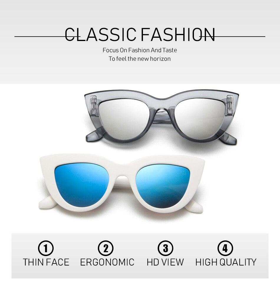 efcc1b03f5 HAPTRON de lujo de la marca de ojo de gato gafas de sol mujer ...