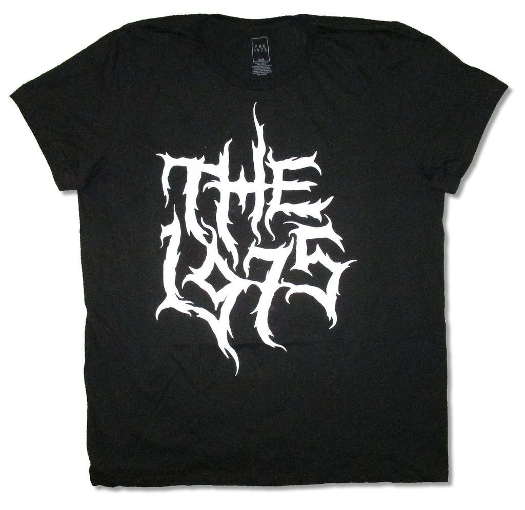 The 1975 Metal Logo Black T Shirt New Official Adult Clothing Tops Hipster Fashion Tees Brand Clothing Funny T-Shirt