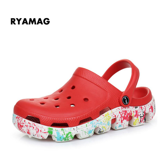 52a8bfc7fd0d02 Slip on Casual Garden Girls Clogs Waterproof Shoes Women Classic Nursing  Clogs Hospital Women Work Medical Sandals Big Size