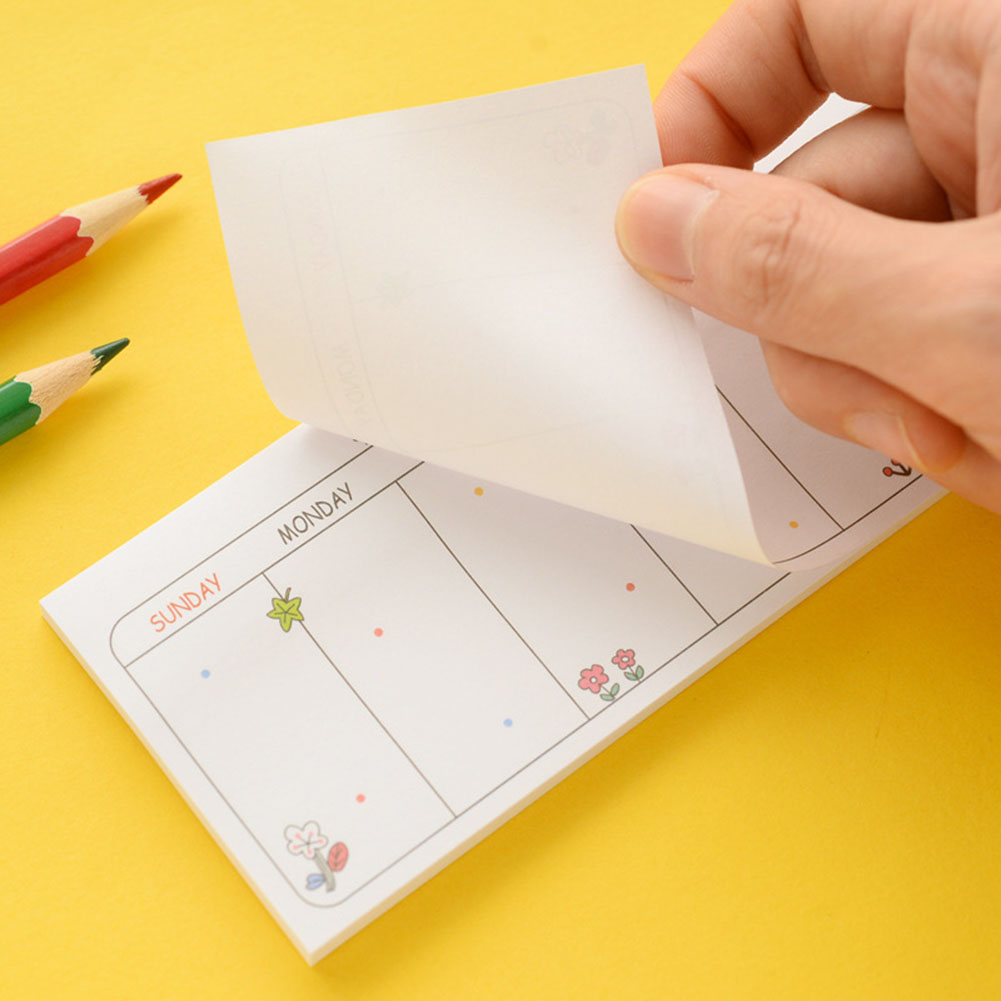 1 Pieces Weekly Planner Schedule Memo Pad 30 sheets Post Sticky Notes Escolar Papelaria School Supply Bookmark