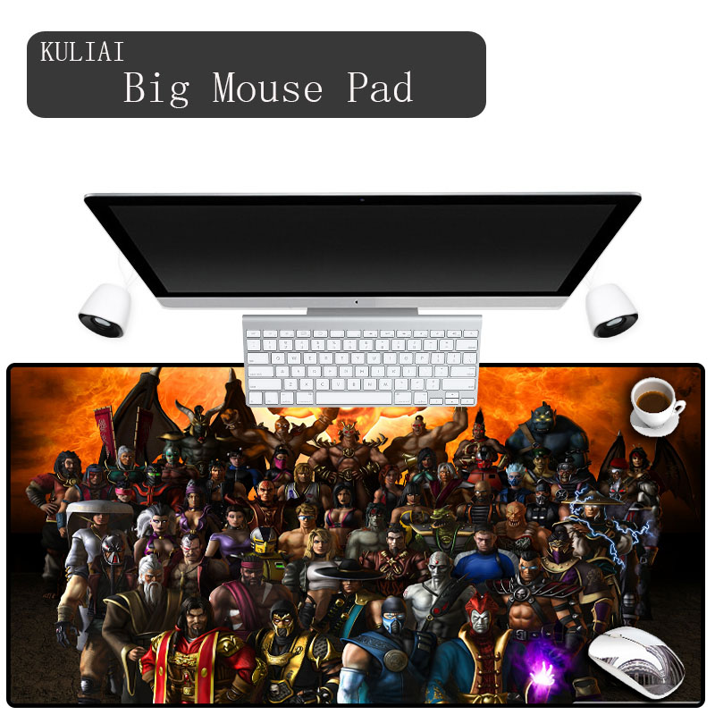 KULIAI High Quality Custom Large Size Video Game Mouse Pad Desktop Protection Pad Keyboard Pad Game Player Mouse Pad for Lol