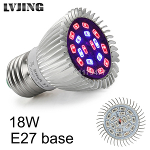 LVJING 18W E27 SMD5730 LED Grow Lights 18 leds 12Red+6Blue Lamp for Flower Plant Growing Germination Hydroponics System Light