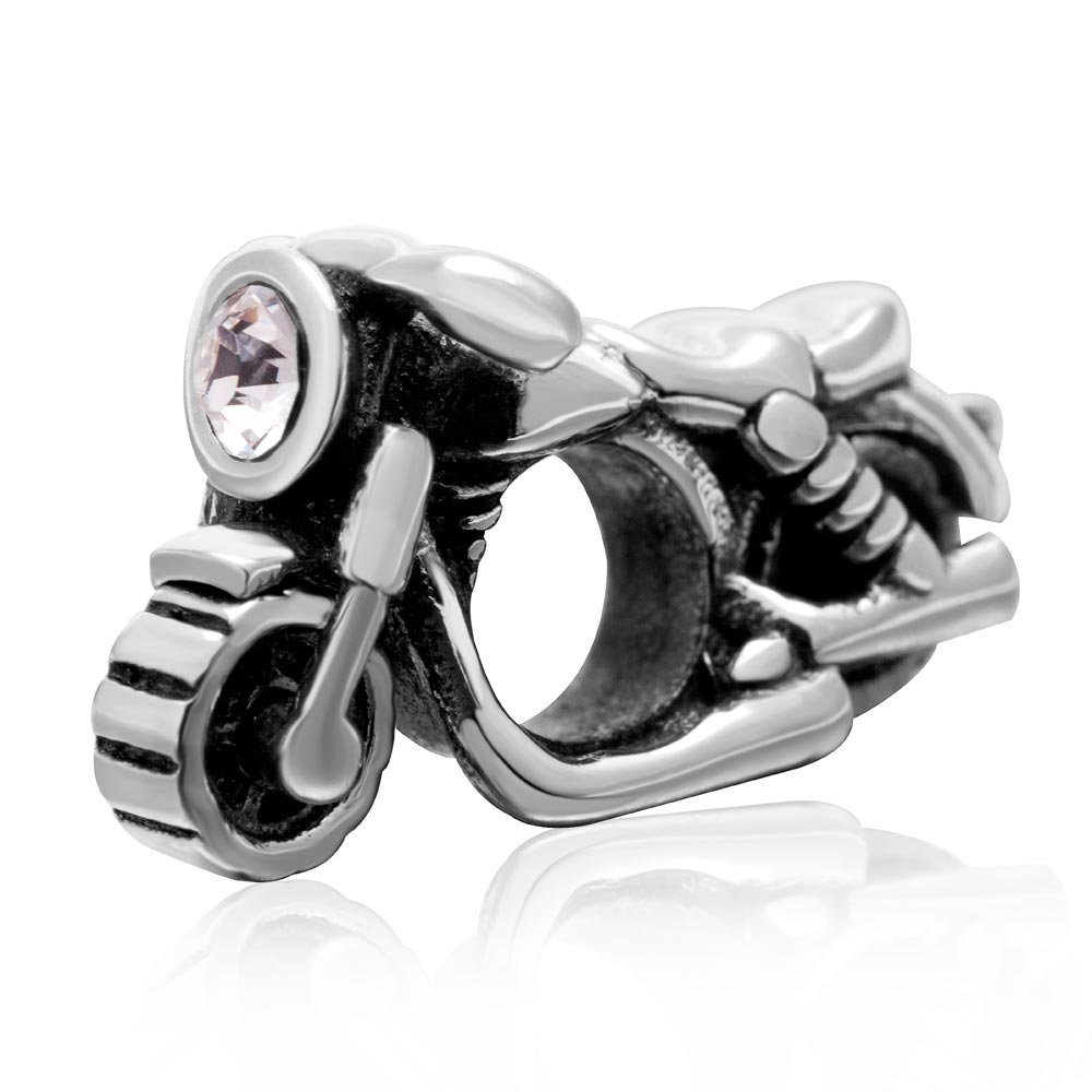 Jclowsexy Authentic 925 Sterling Silver Motorcycle Bead Charms Fit Original Pandora Bracelets & Bangles DIY Necklace Jewelry
