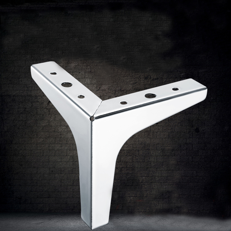 131mm Cold Rolled Steel wardrobe leg cabinet leg sofa leg Foot of triangle cabinet 2pcs cold rolled steel european style sofa leg pattern table legs hollow triangle tv cabinet leg bed furniture leg