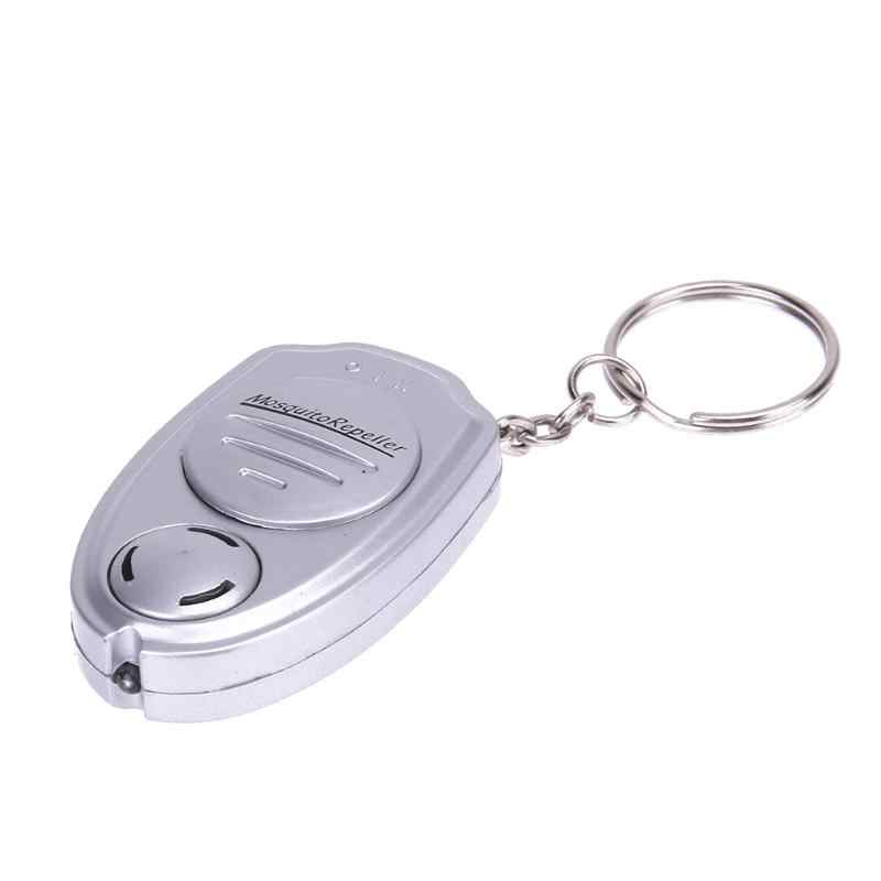 Ultrasonic Mosquito Insect Repeller Key Ring Electronic Pest Repeller Camping Rodents Insects Key Chain