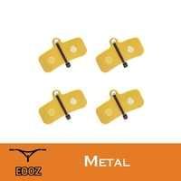 EOOZ 4 paires de plaquettes de frein à disque métalliques en métal pour vélo SHIMANO Saint M810 M820 ZEE M640 H01 convient également à l'ardoise TRP T4, Quadiem