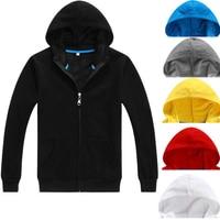 High Quality Cotton Your Own Logo Custom Hoodie Zipper Women Men Black Grey Red Navy Blue
