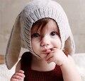 Bebé Del invierno Orejas de Conejo de Punto Sombrero Infantil Del Casquillo Del Niño De Los Niños 0-3 Años kikikids Niña Niño Accesorios de Fotografía Props