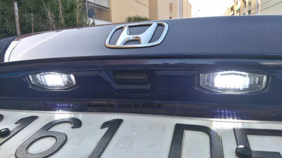 2PCS White 18 LED License Plate Lights For Acura RL TSX RDX Honda Civic Accord