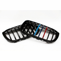 2Pcs M Color Car Front Hood Kidney Grille Grill For BMW F49 X1 2016 2017 Auto