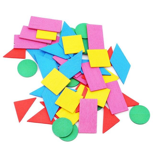 Nueva figura aritmética bebé matemáticas Color Circular Madera Juguetes matemáticas geometría madera Chip Montessori aprendizaje juguete educativo para niños
