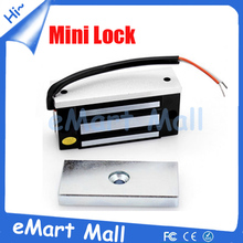 Free Shipping 60kg 12VDC 100LBS Electric Magnetic lock Mini Electric magnetic door lock smart EM lock for access control