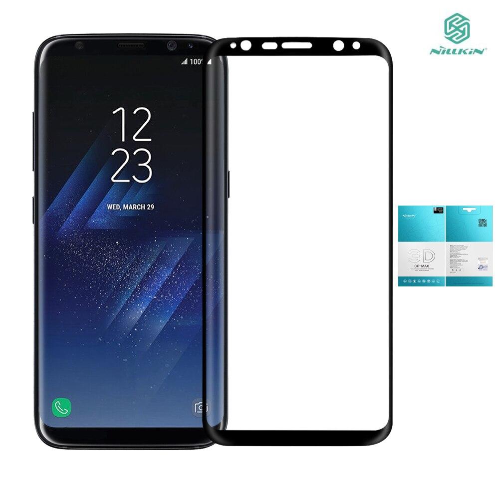 imágenes para Para Samsung película de pantalla de Nillkin para Samsung Galaxia Vidrio S8 S8 Galaxy S8 S 8 3D Borde Curvo de vidrio templado de Pantalla Completa protector