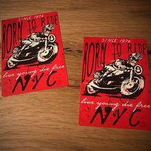 Pegatina de motociclista Vintage motocicleta ee.uu. Chopper Bobber Retro Vintage nuevo #013