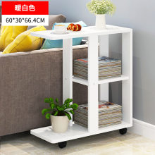 Console Tables Living Room Furniture Home Furniture wood side table end table basse minimalist storage desk with roller 60*30*66(China)