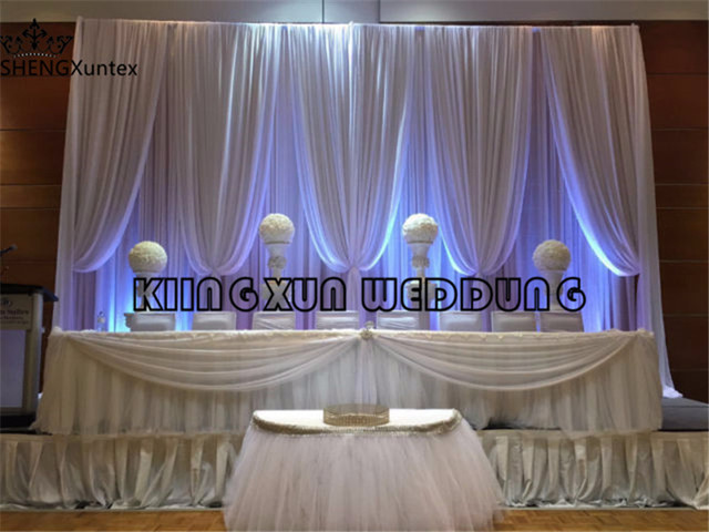 cheap price 3m 6m white color wedding backdrop curtain satge