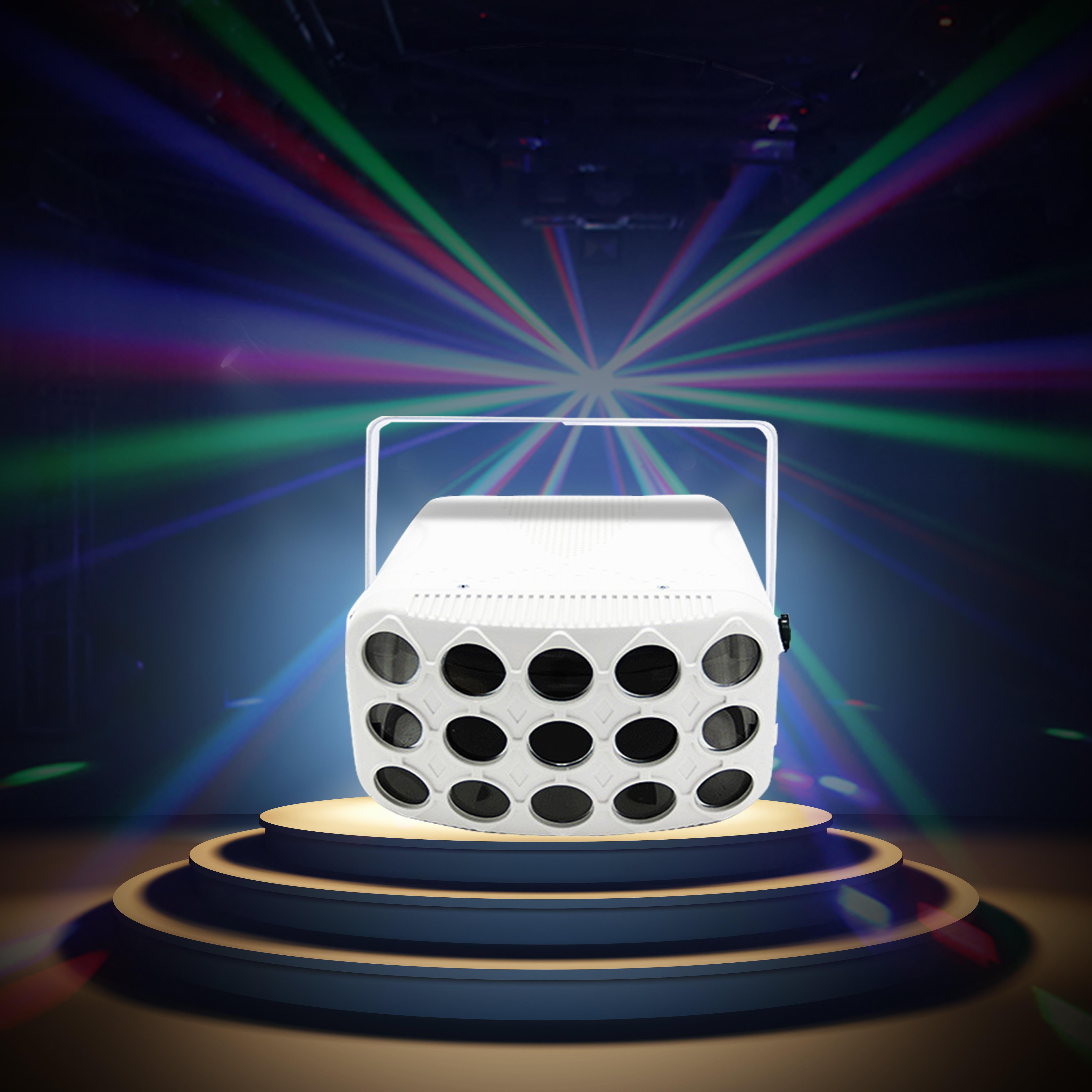 60 W 8 couleurs DMX lampe LED disco 90-240 V papillon fête lumières professionnel faisceau scène éclairage vacances laser projecteur