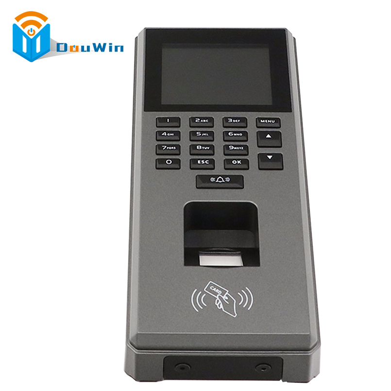 Fingerprint RFID Access Control Machine big Size Sreen Digital RFID Reader Scanner Sensor For Door Lock Time Attendance DouWin 2g gprs 3g wcdma real time fingerprint verification clocking device rfid reader for guard patrol