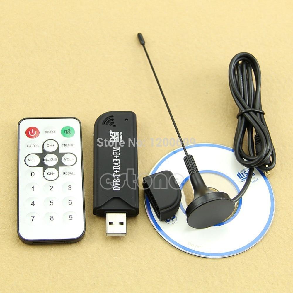 USB2.0 Digital DVB-T SDR+DAB+FM HDTV TV Tuner Receiver Stick HE RTL2832U + FC0012
