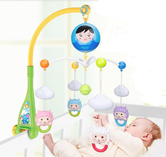 New  Baby Rattle Baby Toys Rotating Musical Baby Mobile Musical Bed Bell With 40 Music For  0-12 Months