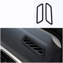 lsrtw2017 titanium black stainless steel car dashboard vent trims for volkswagen t-roc 2017 2018 2019 2020