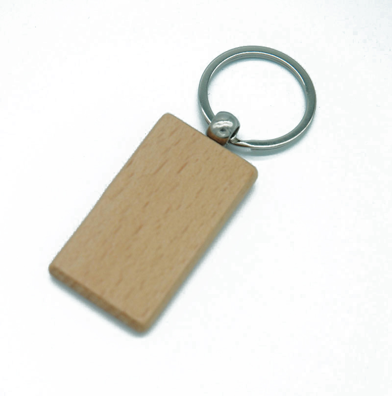 Blank Rectangle Wooden Key Chain DIY Promotion Customized Wood Keychains Key Tags Promotional Gifts