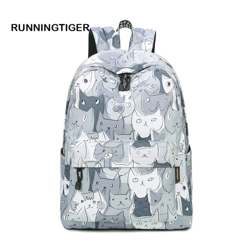 Women Backpack 2017 New School Bags For Teenager Girls Printing USB Charge Backpacks space diary school