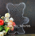 free shipping SP07 bear pegboards patterns for 5mm hama beads perler beads DIY educational toy