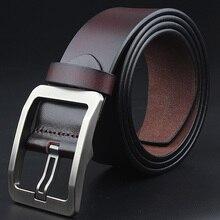 Cinturón de cuero de vaca para hombre, cinturón de Hebilla negra ajustable, jeans vintage, Correa suave XXl, talla grande 130, 150, 140