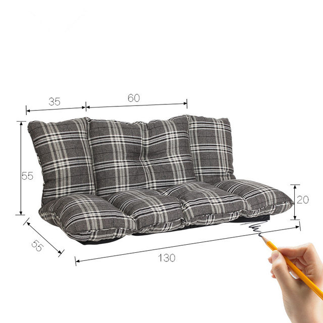 Fabric Upholstery Foldable Couch Modern Leisure Sleeper Sofa Multi Functional Folding Sleeping Bed Loveseat Floor