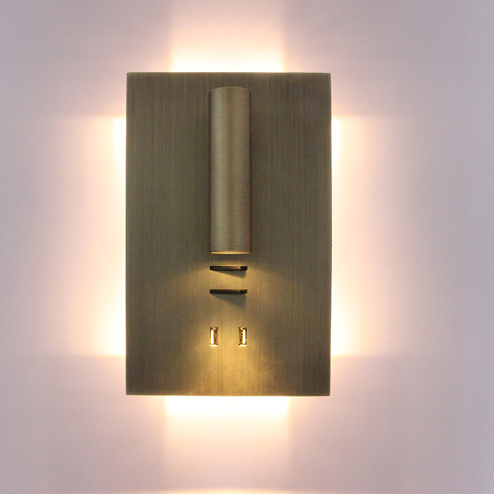 Zerouno Dual USB Wall Light Sconces Bedroom Lamp Light Fixtures 5V 2A Fast Charging Smart Phone Charger Wall Light Lamp Decor