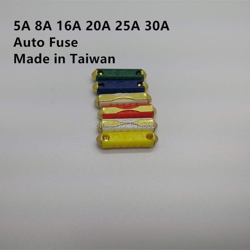 Made in Taiwan 60pcs 5/8/16/20/25 / 30A Car / Auto Fuse, EU Automotive Fuses 6 models, European fuse Free Shipping лупа bao workers in taiwan 10